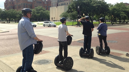 People on segways in Dallas