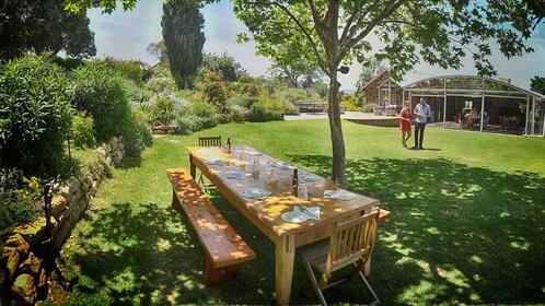 Outdoor seating at McLaren Vale Winery in Australia.