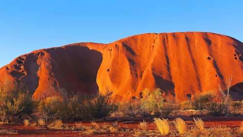 Ayers Rock in the outback of Australia.