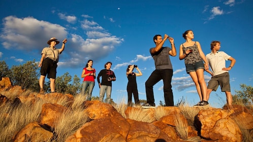 Tour group in Australian outback