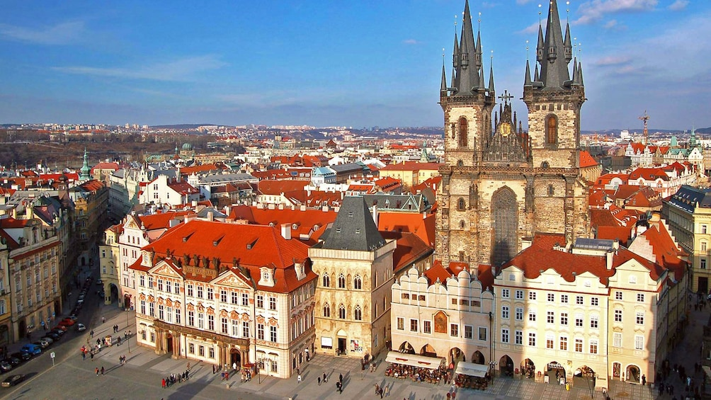 Show item 3 of 10. Prague Castle towers over the surrounding city in Prague