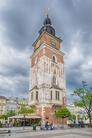 Cloudy, overcast day at Town Hall Tower, Kraków