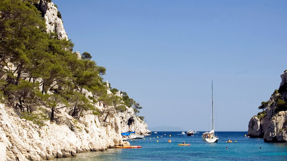 Serene view of boats on the water during the day in Marseille