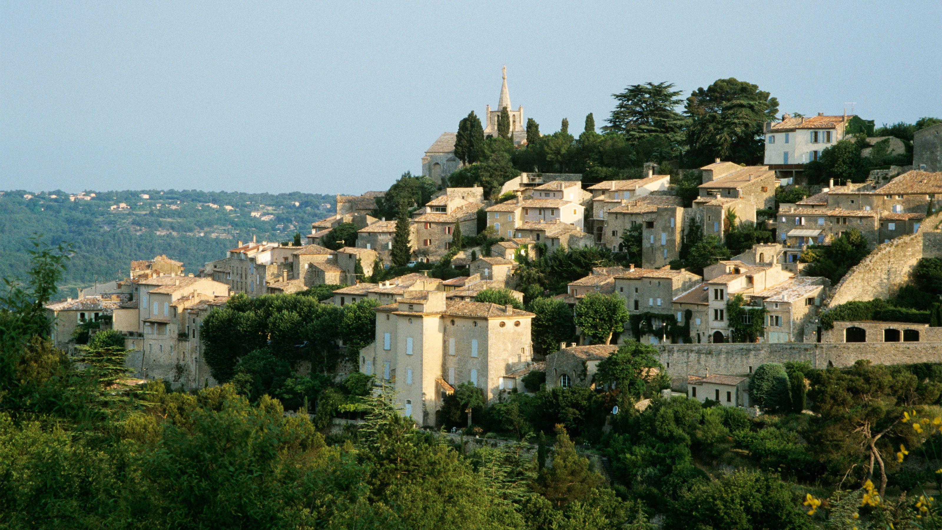 Close view of the Perched Villages of the Luberon