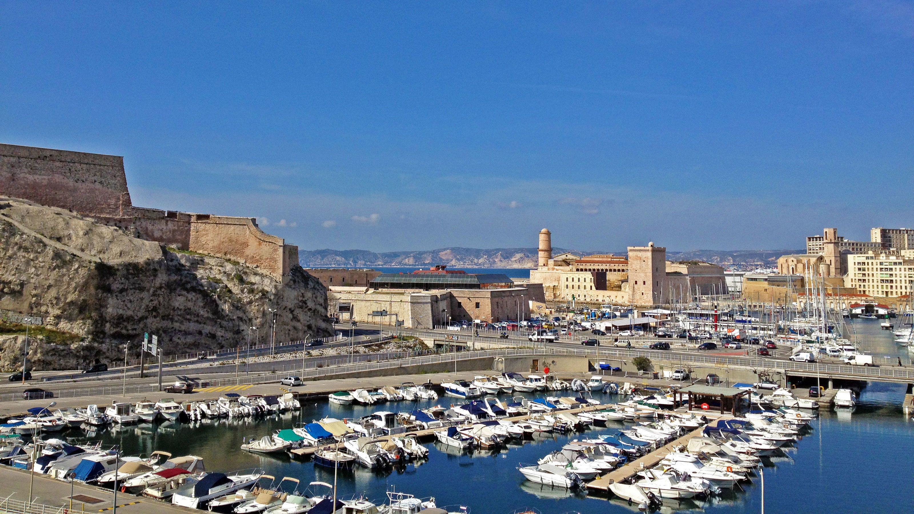 Town and harbor of Marseille