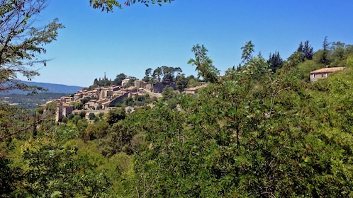Hilltop village of Bonnieux nestled in a cedar forest in Aix-en-Provence