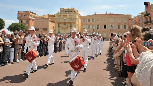 Parade outside of the Prince's Palace of Monaco