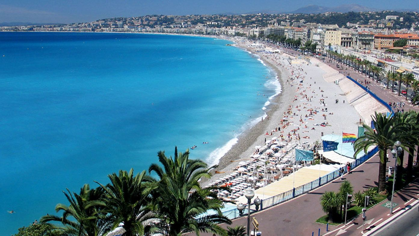 Sunny day at the beach in Cannes