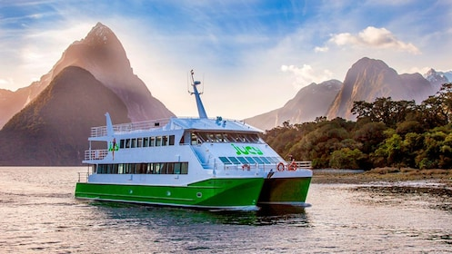 Cruise ship on Milford Sound in New Zealand.