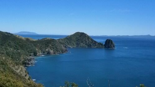 blue ocean off coast of Coromandel peninsula in Coromandel