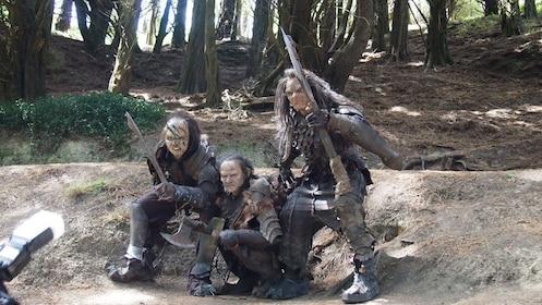 character actors in costume portray orcs in Wellington