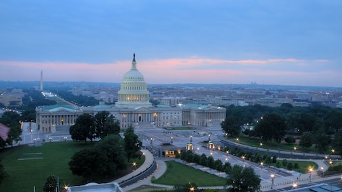 The United states capitol building in Washington D.C at sunset