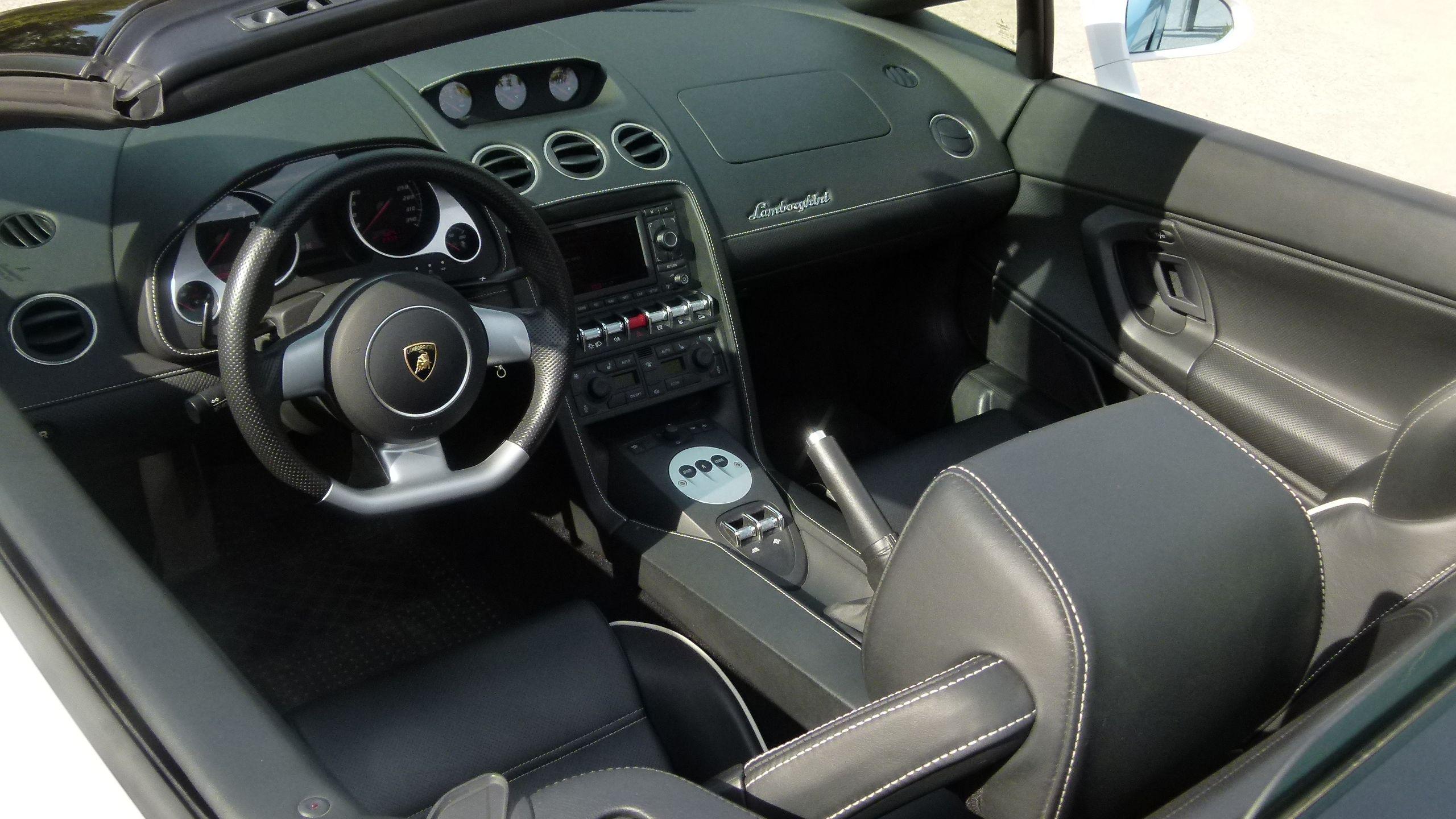 Interior of a Lamborghini in Monaco