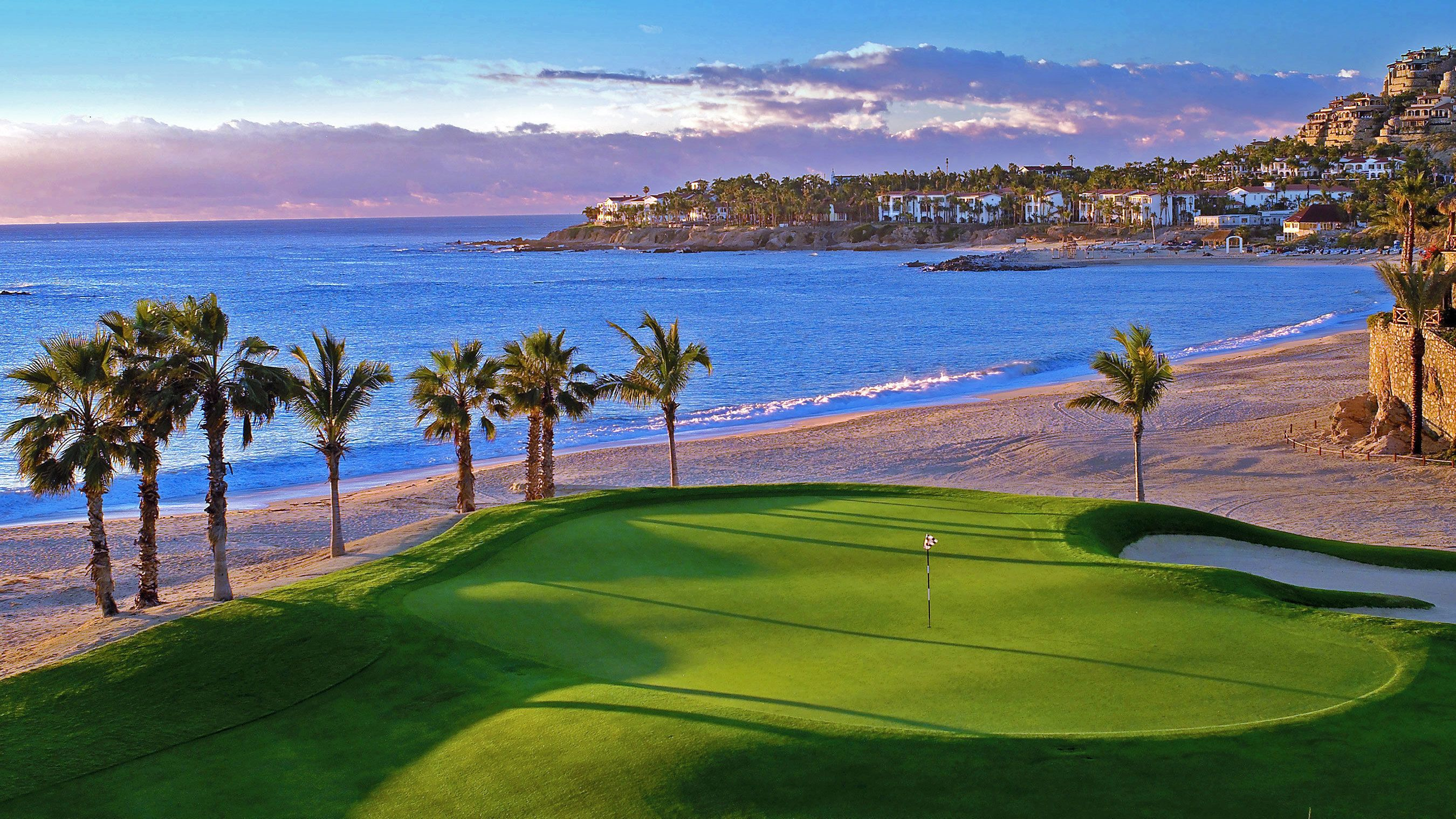 Golf course on the coast of Mexico