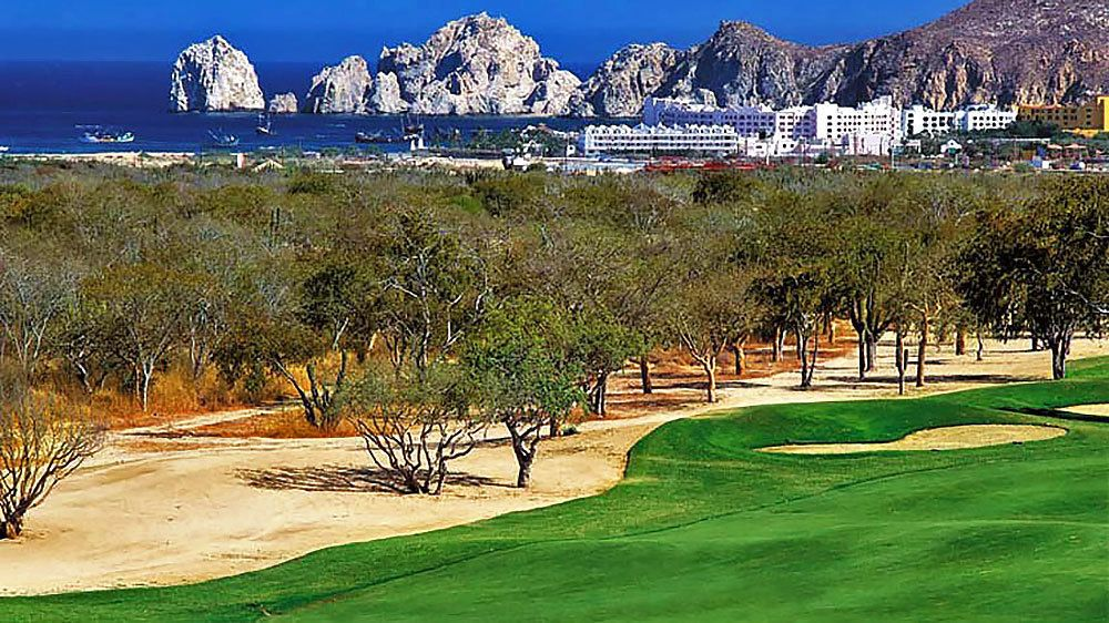 Golf course on the shore in Mexico