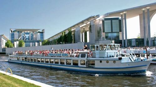 Cruise boat on the Spree river in Berlin