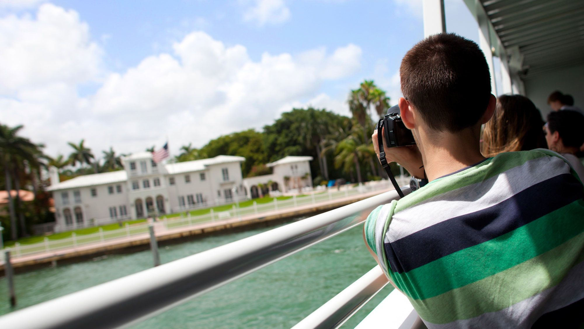 Documenting the boat tour in Miami