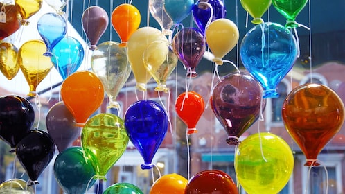 Blow glass in a window in Venice Italy