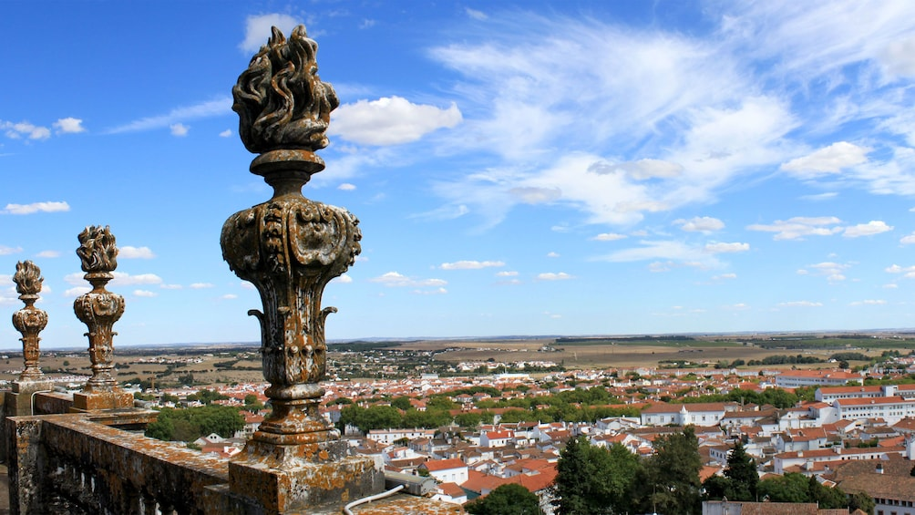 Show item 1 of 5. viewing the historical town from a high vantage point in Portugal