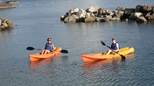 Kayaking pair in St Kitts
