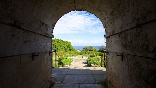 Archway in the Rose Hall great house in Jamaica