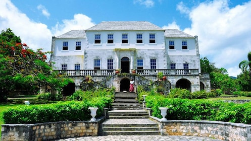 Front view of the Rose Hall great house in Jamaica