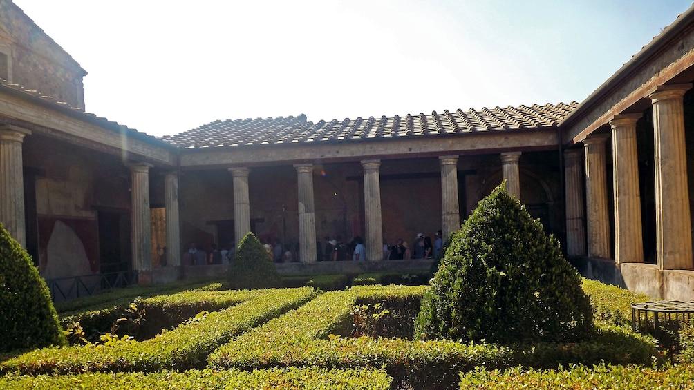 Garden and building in Naples