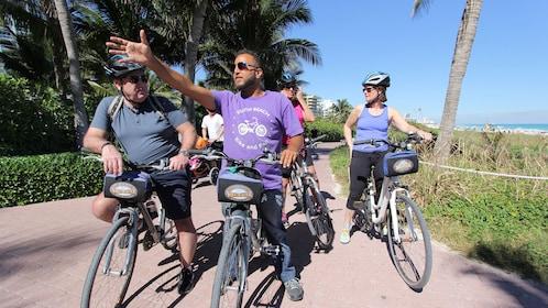 South Beach Bike tour guide leading the way through South Beach, Miami