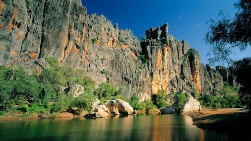 Majestic rocks in the Windjana Gorge.
