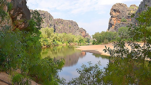 Refection of rocks in Windjana Gorge and Tunnel Creek area.
