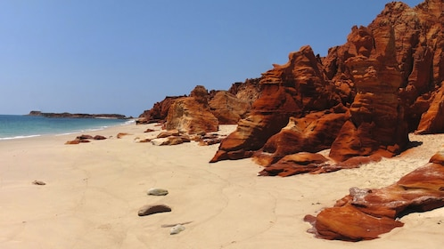 Red rocks formations on Cape Leveque beach in Australia.
