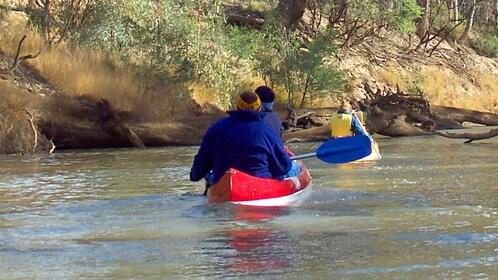 Group on Murray River Canoeing in Australia.