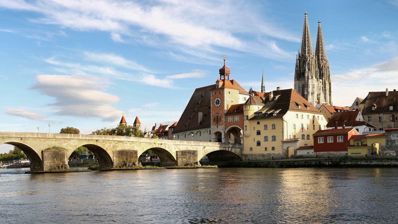 Town of Regensburg in Munich