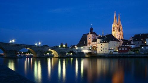 Regensburg at night in Munich