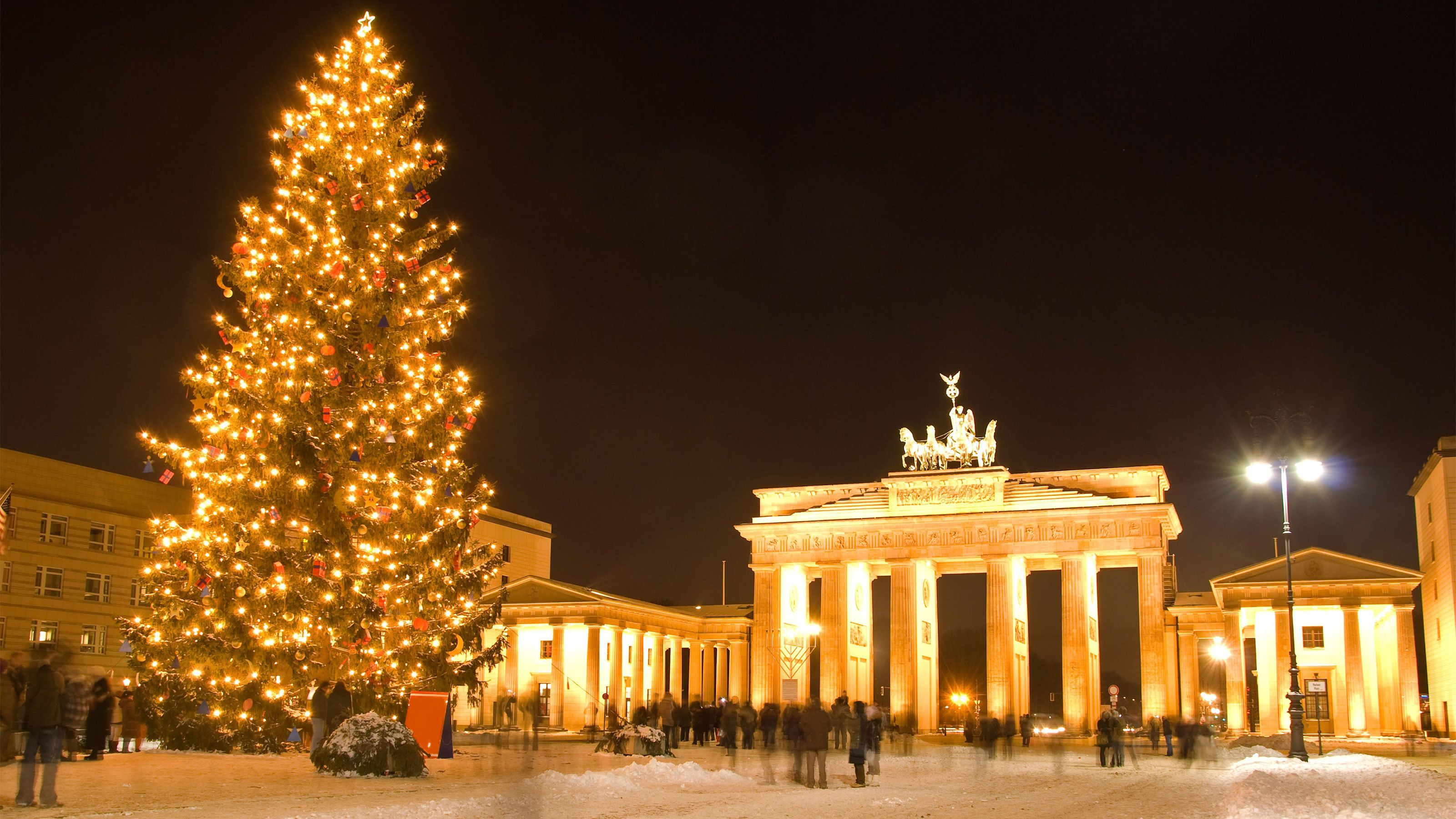 Christmas tree in a square in Berlin