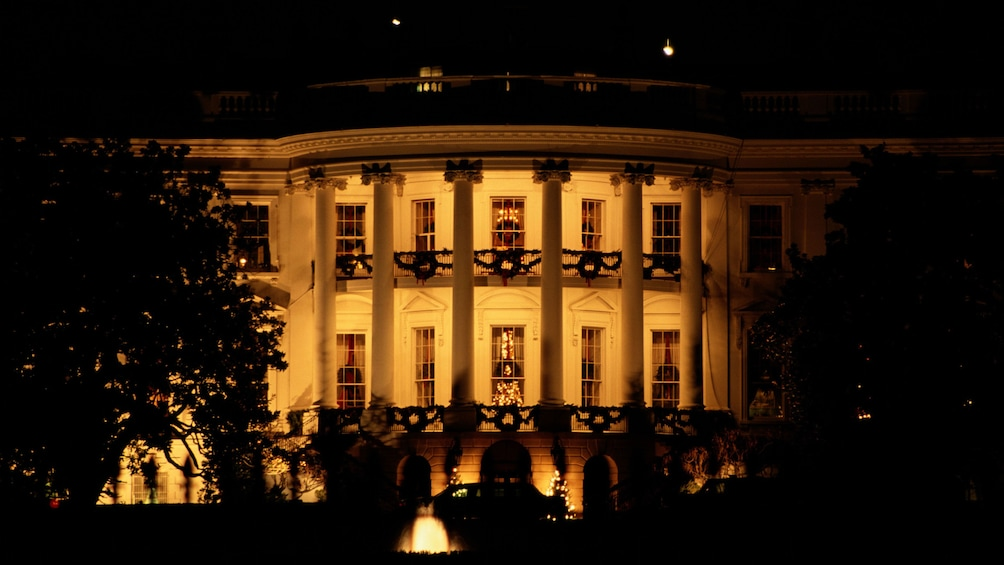 Show item 5 of 5. The White House lit at night in Washington DC