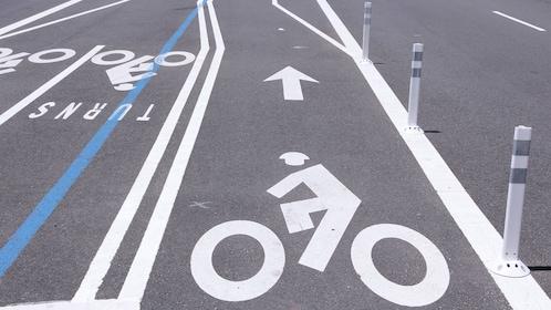 Nicely paved bike lanes in Washington DC
