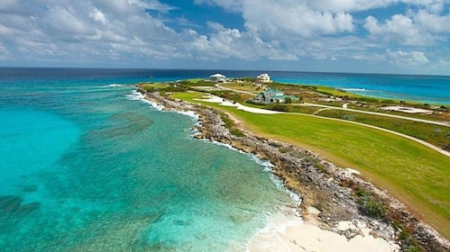 Beautiful golf course on the coast of the Caribbean