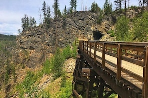 Bicyle Tour on Historical Kettle Valley Railway from Myra Canyon to Pentict...