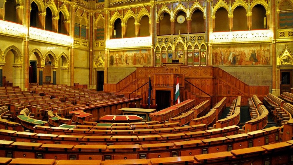 Show item 3 of 10. Tour the halls of the Hungarian Parliament Building in Budapest