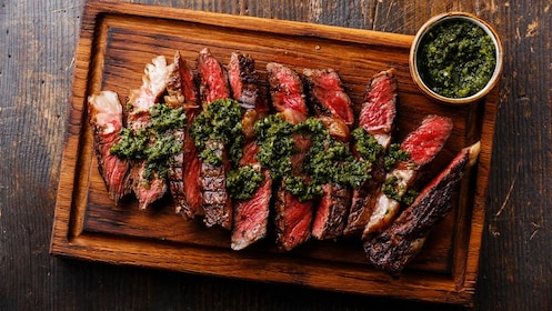 Flank Steak with green paste
