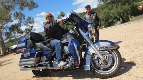 woman sitting on Harley Davidson in Sydney
