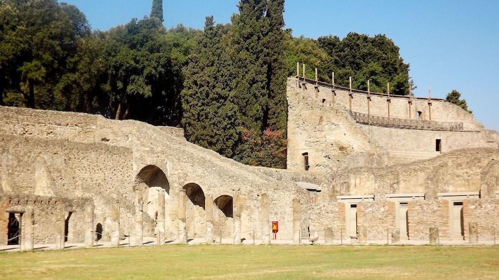 Ancient Roman ruins in Naples