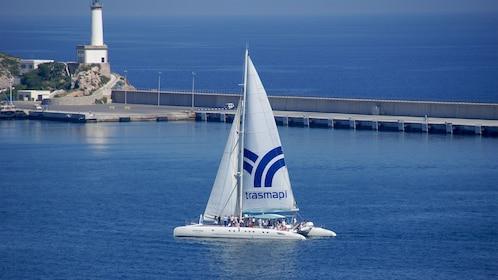 Catamaran in Ibiza.