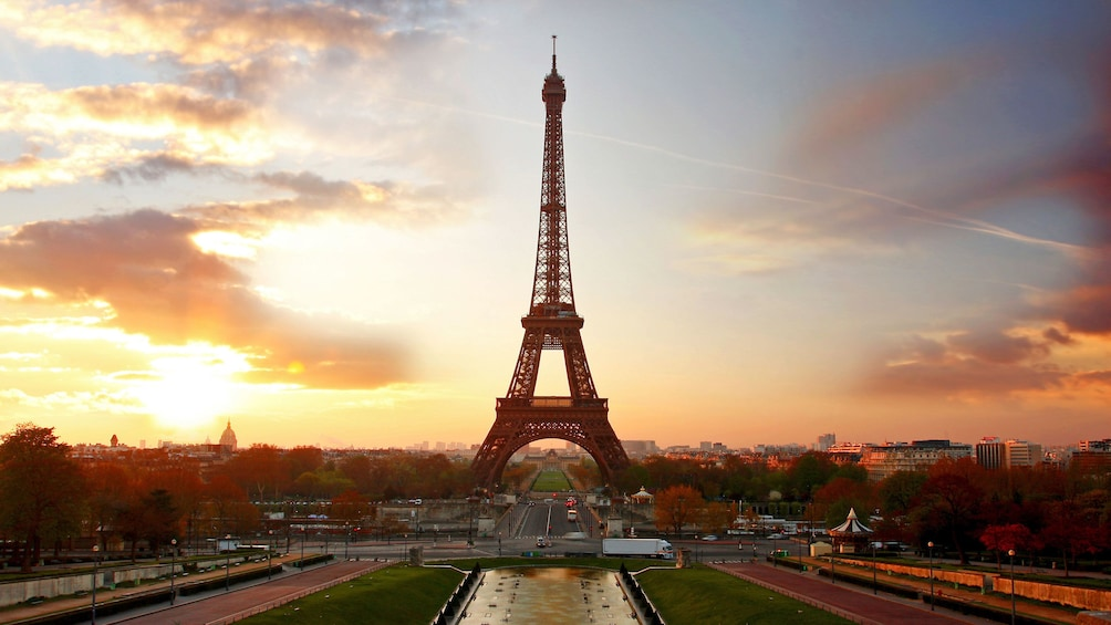 Show item 3 of 5. Eiffel Tower in the sunset at Paris