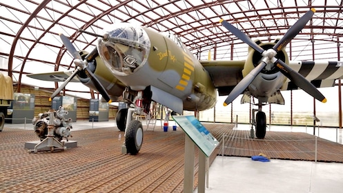 Old war plane in Normandy France