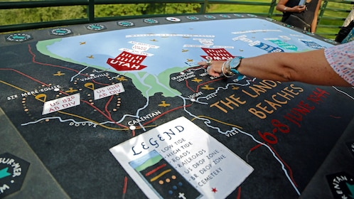 War strategy map in Normandy France