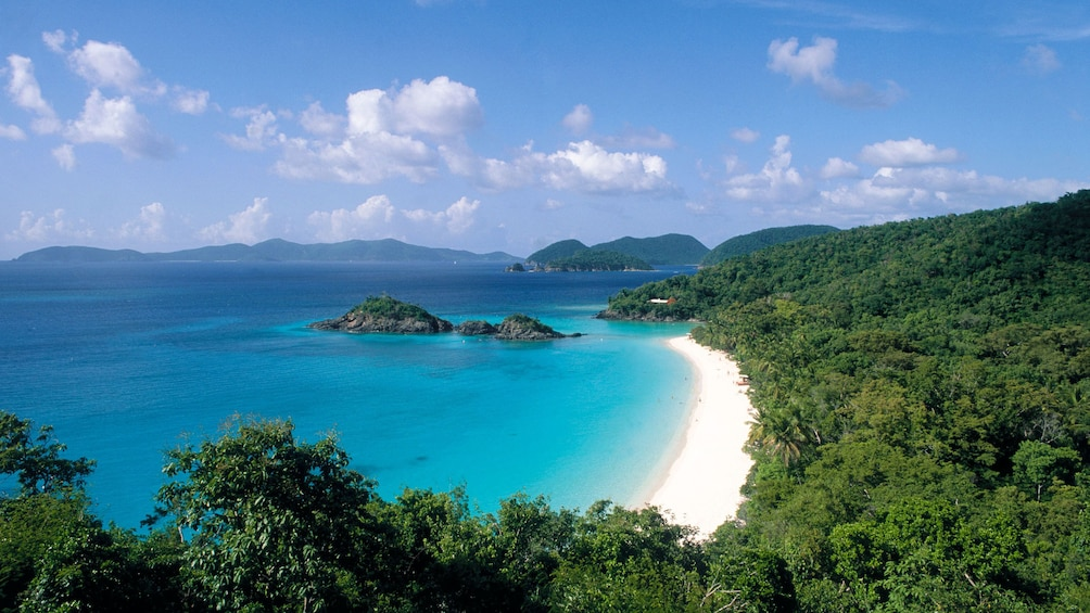 Show item 3 of 7. Trunk Bay Beach in St. Thomas.