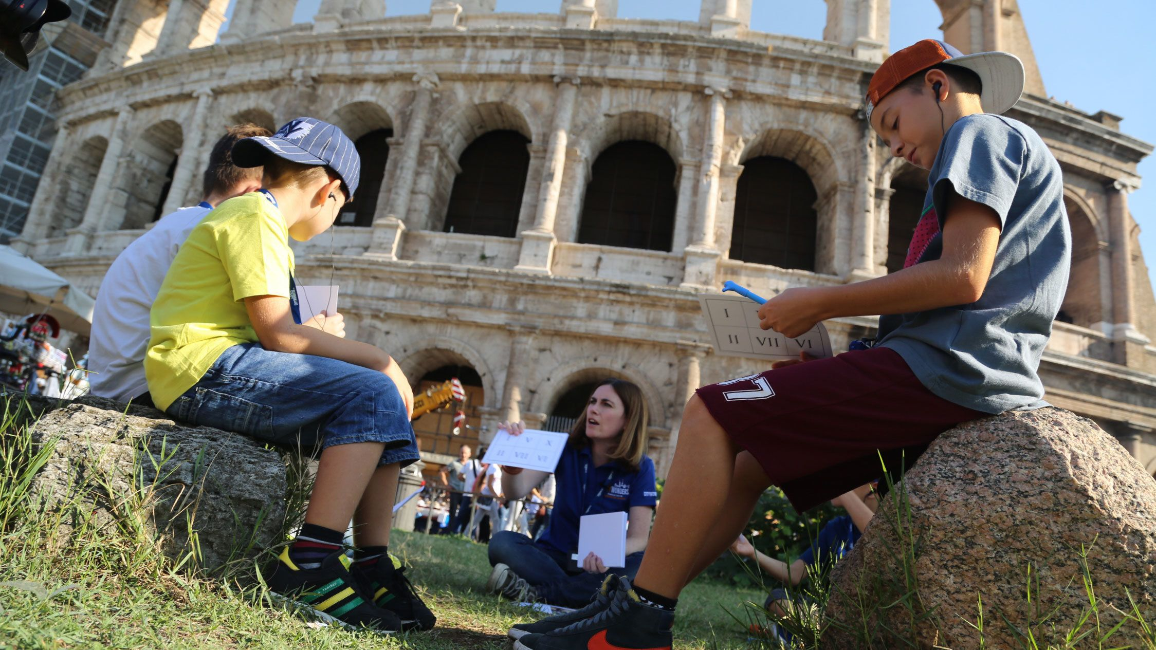 Først i køen: Familietur til Colosseum med keisere og gladiatorer