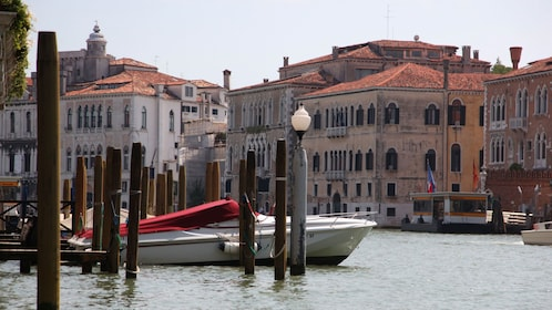 Grand Canal dock in Venice.